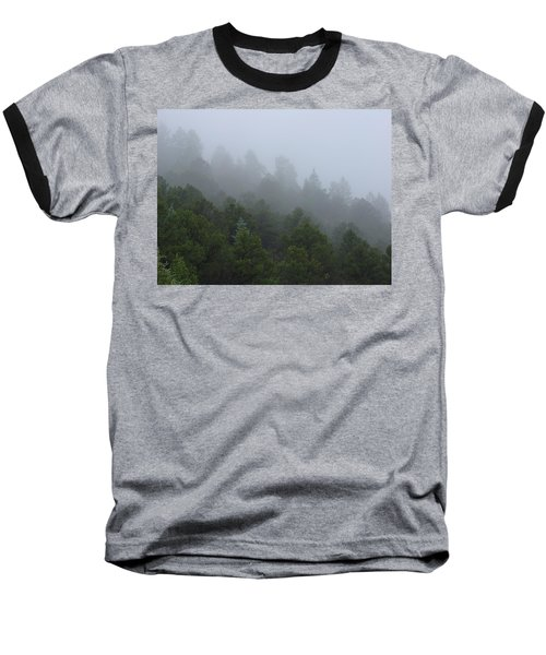 Misty Mountain Morning Baseball T-Shirt