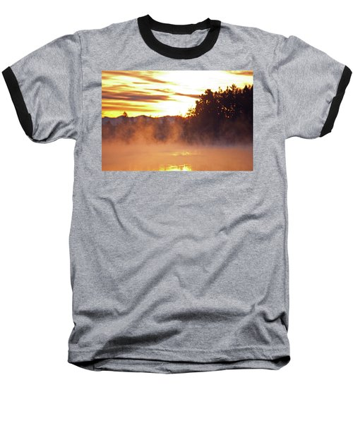 Baseball T-Shirt featuring the photograph Misty Sunrise by Tikvah's Hope