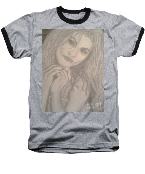 Baseball T-Shirt featuring the drawing Model by Christy Saunders Church