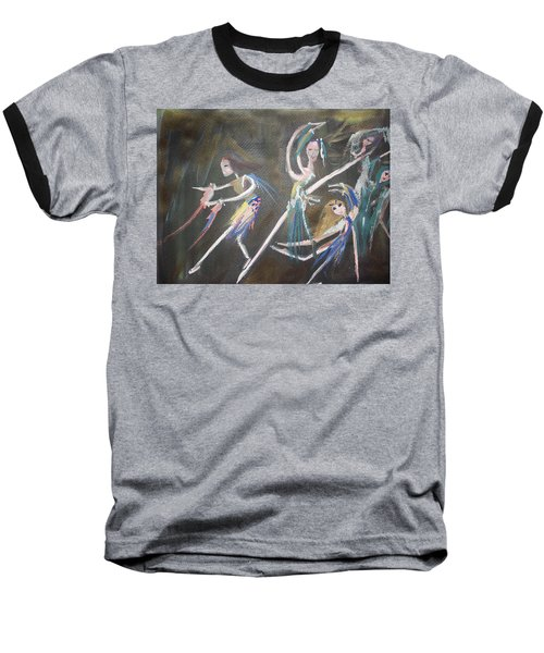 Baseball T-Shirt featuring the painting Modern Ballet by Judith Desrosiers