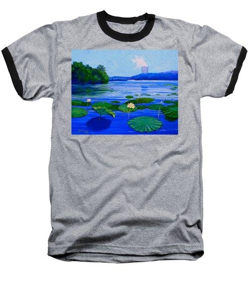 Modern Mississippi Landscape Baseball T-Shirt by Jeanette Jarmon
