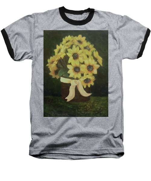 Baseball T-Shirt featuring the painting Mom's Bouquet by Christy Saunders Church