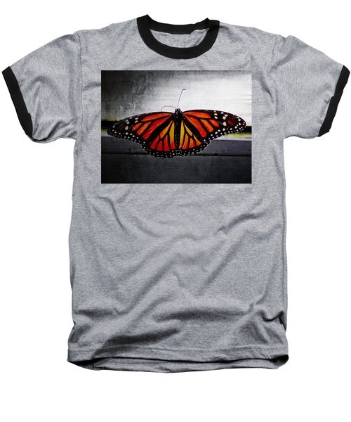 Baseball T-Shirt featuring the photograph Monarch by Julia Wilcox