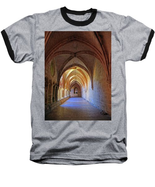 Baseball T-Shirt featuring the photograph Monastery Passageway by Dave Mills