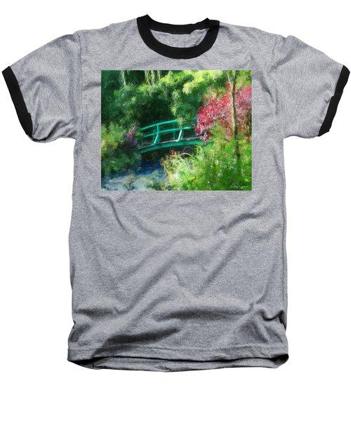 Monet's Garden Baseball T-Shirt by Diana Haronis