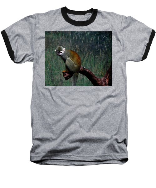 Baseball T-Shirt featuring the photograph Monkey by Maria Urso