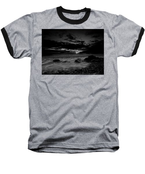 Monochrome Sunset  Baseball T-Shirt by Beverly Cash