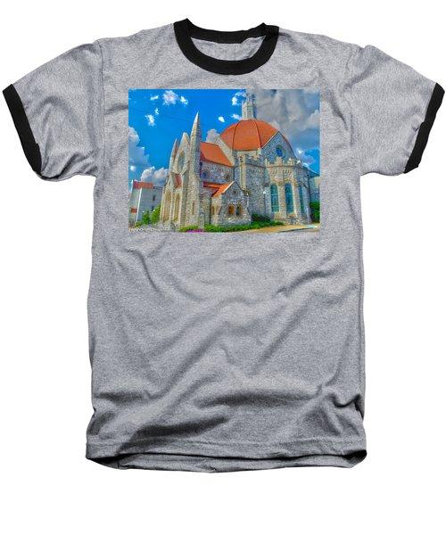 Montgomery Baptist Church Hdr Baseball T-Shirt by Shannon Harrington