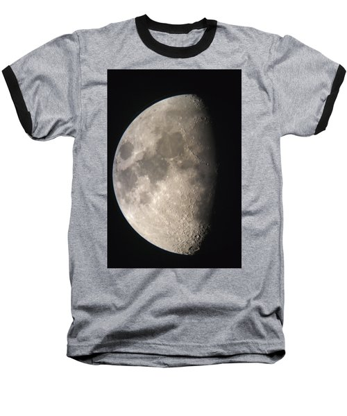 Baseball T-Shirt featuring the photograph Moon Against The Black Sky by John Short