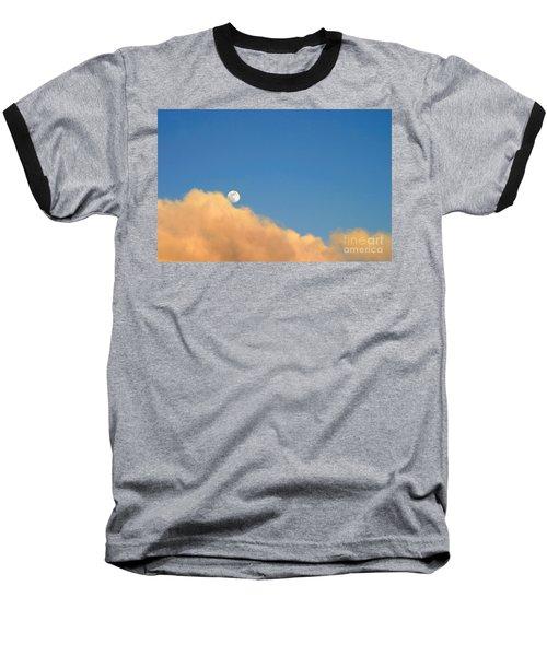 Moon At Sunset Baseball T-Shirt