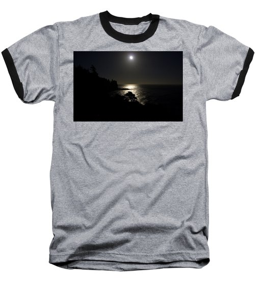Baseball T-Shirt featuring the photograph Moon Over Dor by Brent L Ander
