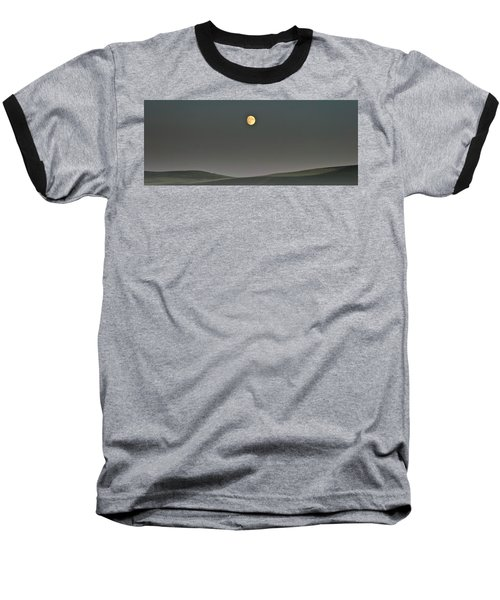 Baseball T-Shirt featuring the photograph Moon Over The Palouse by Albert Seger