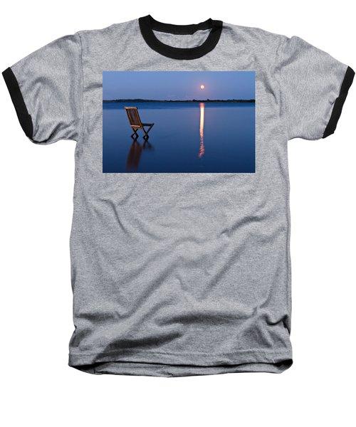 Baseball T-Shirt featuring the photograph Moon View by Gert Lavsen