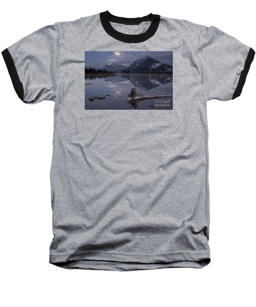 Moonrise Over Banff Baseball T-Shirt