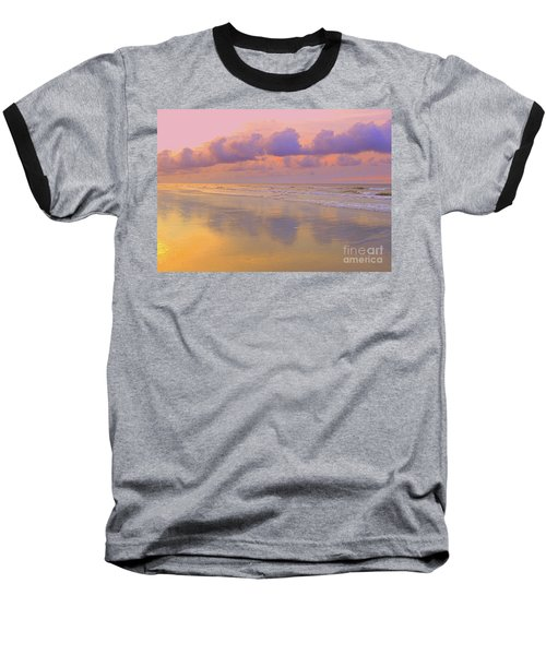 Baseball T-Shirt featuring the photograph Morning On The Beach  by Lydia Holly