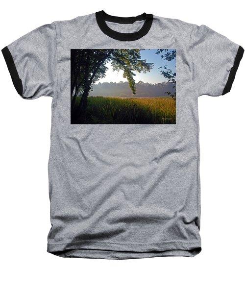 Morning On The River Baseball T-Shirt by Kay Lovingood