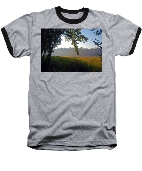 Morning On The River Baseball T-Shirt