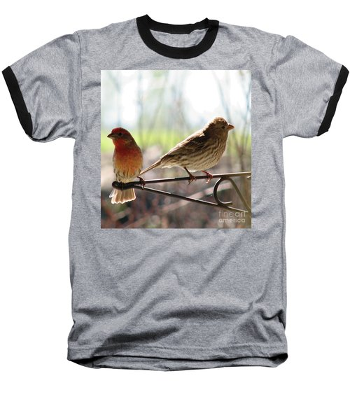 Baseball T-Shirt featuring the photograph Morning Visitors 2 by Rory Sagner