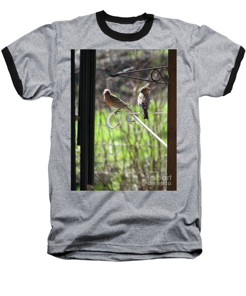 Baseball T-Shirt featuring the photograph Morning Visitors by Rory Sagner