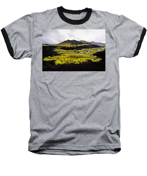 Moss In Iceland Baseball T-Shirt