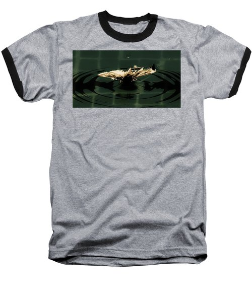 Baseball T-Shirt featuring the photograph Moth Ripples by Jessica Shelton