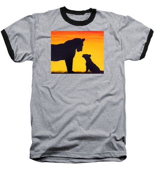 Baseball T-Shirt featuring the painting Mother Africa 3 by Michael Cross