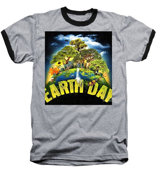 Mother Earth Baseball T-Shirt by Pg Reproductions