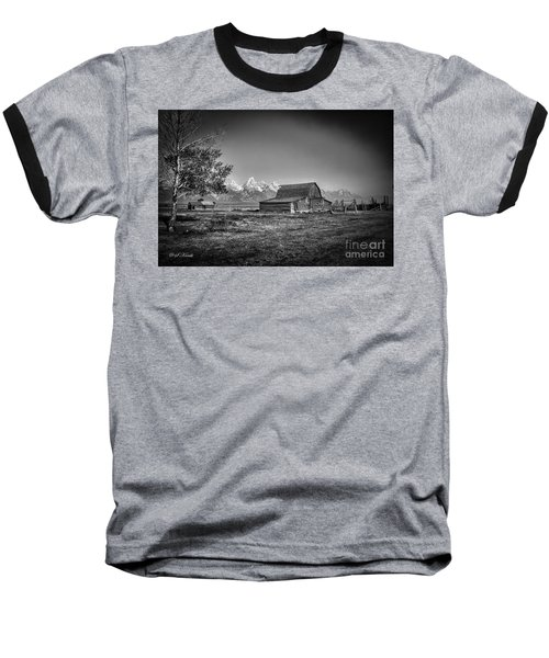 Moulton Barn Bw Baseball T-Shirt