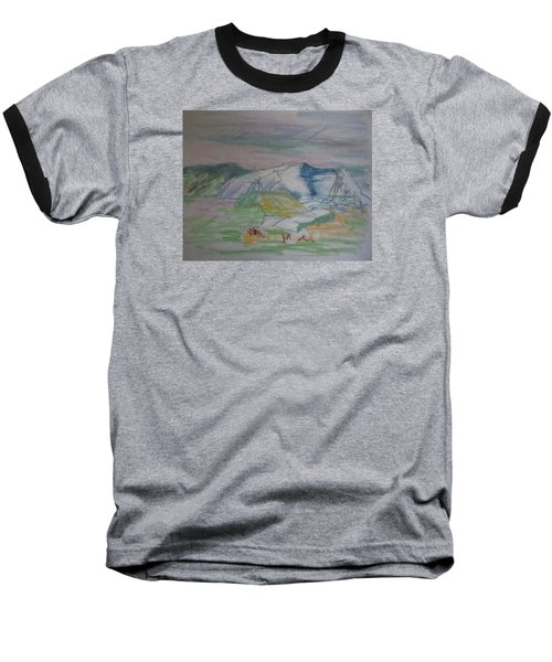 Baseball T-Shirt featuring the painting Mount Desert Back Side by Francine Frank
