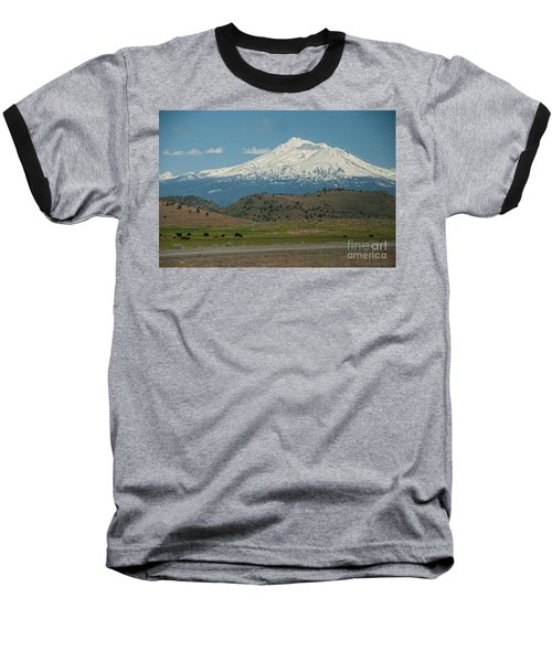 Mount Shasta Baseball T-Shirt by Carol Ailles