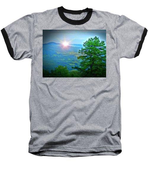 Mountain Sunrise Baseball T-Shirt by Dan Stone