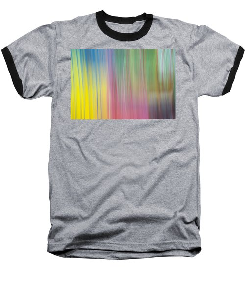 Moving Colors Baseball T-Shirt by Susan Stone
