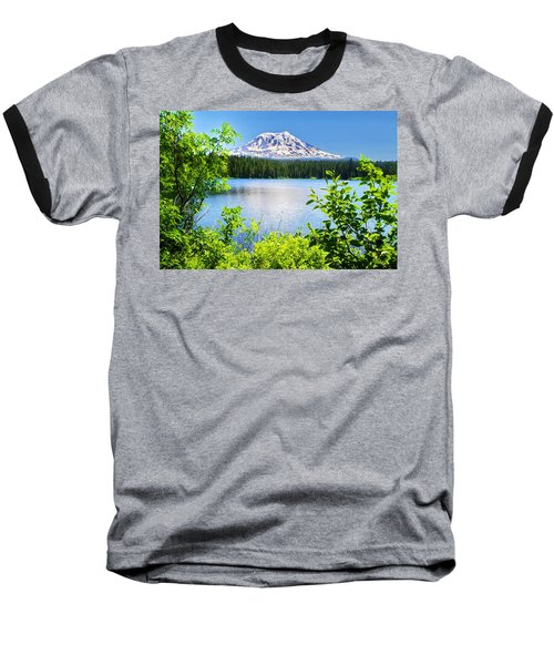 Mt Adams And Takhlakh Lake Baseball T-Shirt