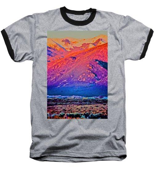 Mt Wheeler At Sunset Baseball T-Shirt