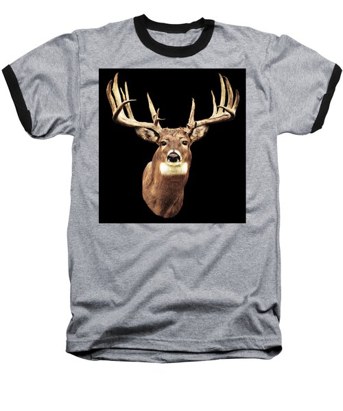 Mule Deer Head Baseball T-Shirt