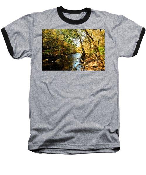 Baseball T-Shirt featuring the photograph Musconetcong River by Brian Hughes