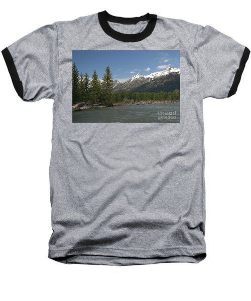 My Favorite Of The Grand Tetons Baseball T-Shirt by Living Color Photography Lorraine Lynch