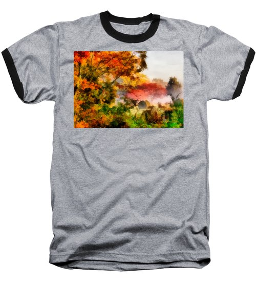 Baseball T-Shirt featuring the painting My Front Yard by Lynne Jenkins