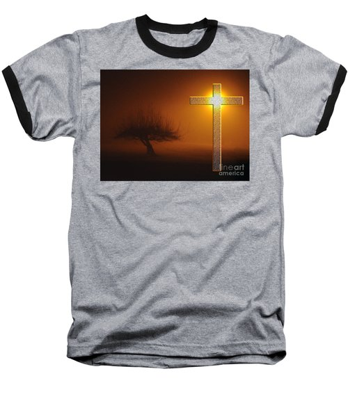 Baseball T-Shirt featuring the photograph My Life In God's Hands 3 To 4 Ration by Clayton Bruster
