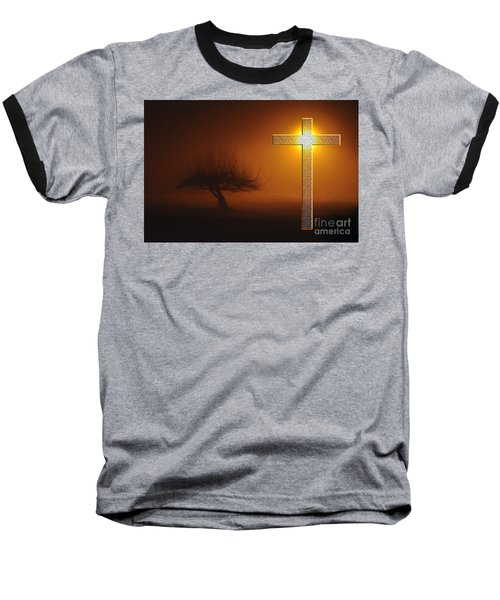 Baseball T-Shirt featuring the photograph My Life In God's Hands by Clayton Bruster