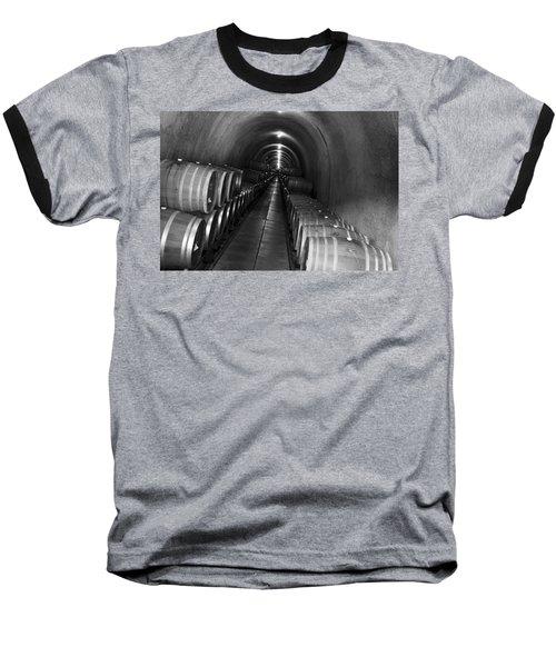 Napa Wine Barrels In Cellar Baseball T-Shirt