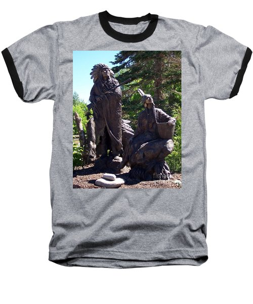 Baseball T-Shirt featuring the photograph Native American Statue by Chalet Roome-Rigdon