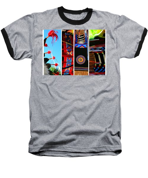 Slices Of Native American Heritage Baseball T-Shirt by Toni Hopper