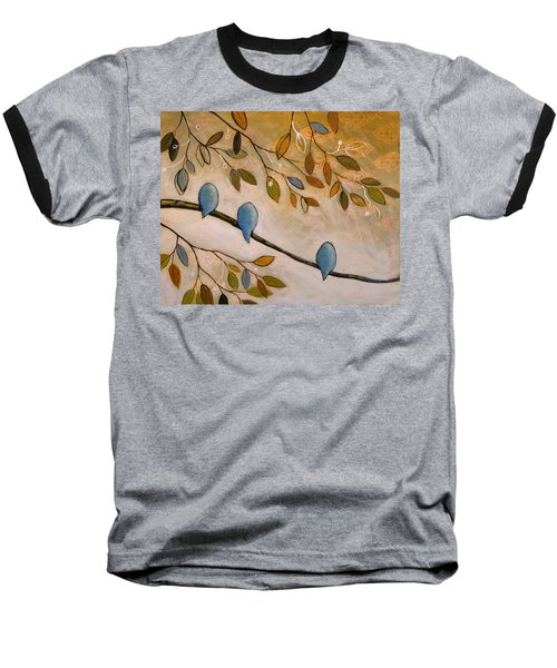 Baseball T-Shirt featuring the painting Nature Birds Painting...peaceful Garden by Amy Giacomelli