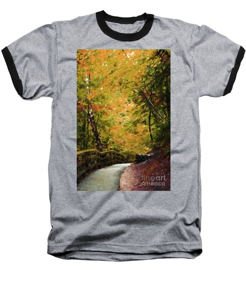 Baseball T-Shirt featuring the photograph Nature In Oil  by Deniece Platt