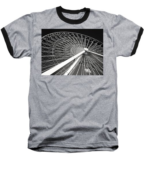 Navy Pier Ferris Wheel Baseball T-Shirt