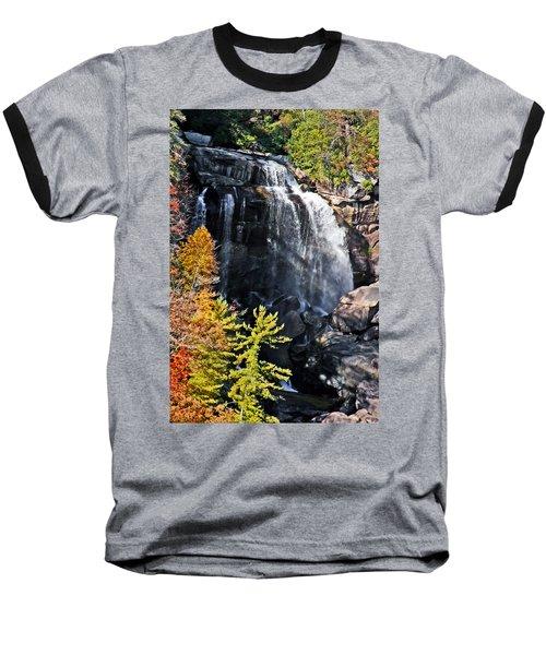 Nc Waterfalls Baseball T-Shirt by Ronald Lutz