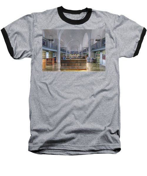 Baseball T-Shirt featuring the photograph Nebraska State Capitol Library by Art Whitton