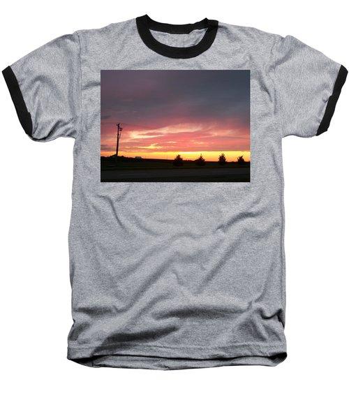 Nebraska Sunset Baseball T-Shirt