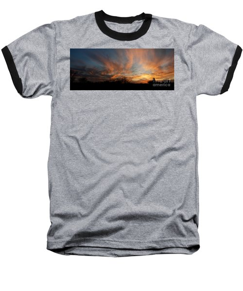 Baseball T-Shirt featuring the photograph Nebraska Sunset by Art Whitton
